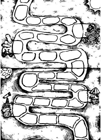 Maze Garden Vector
