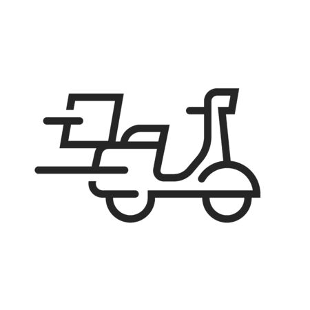 Fast Delivery Scooter Icon vector