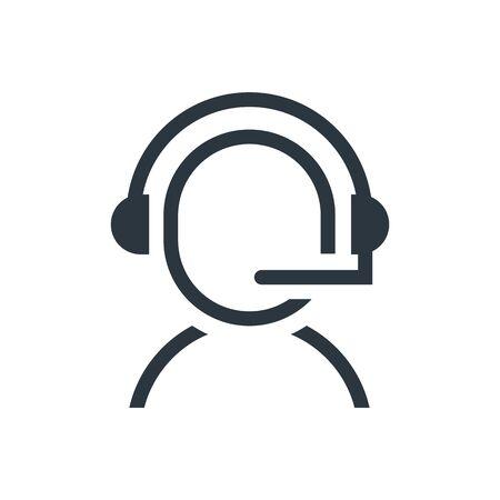 call center service icon vector