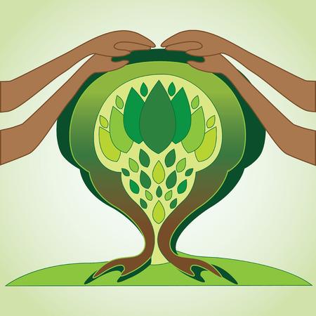 Conceptual design to spread environmental conservation Illustration