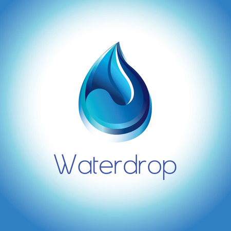 clarity: Symbol of a pure water droplet.The art represents the clarity and purity of water drop .This is a symbol to save every drop water in our life. Illustration