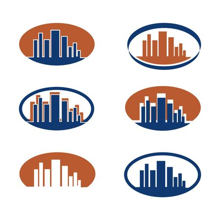 midtown: Logos for a cityscape.Each in a different iconic form.