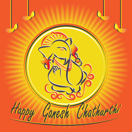 Warm wishes for Ganesh chathurthi.Greetings for the important hindu festival of the year.