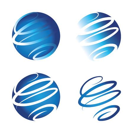 Spiral-Logo repräsentiert world wide web. Neue Technologie für eine neue Welt. Illustration