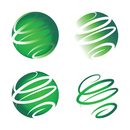 environmental friendly: Environmental friendly logo.Forms a whole new green ecological globe