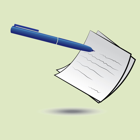 listing: Pen and paper. Jot. Notes. Letter. Listing out important activities. Business checklist.
