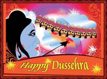 occassion: Celebrations .Dussehra is a hindu festival celebrated for the victory of lord Rama over the demon ravana .Illuminations are seen all over the country on this occasion. Illustration