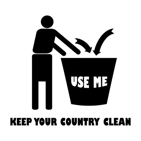 keep clean: Use me.Trash should get into the right place .Keep your surroundings clean.