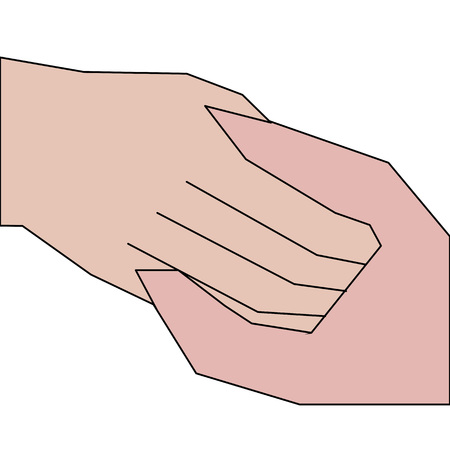 agreement shaking hands: A formal handshake or a handshake between entrepreneurs.Greetings to each other.