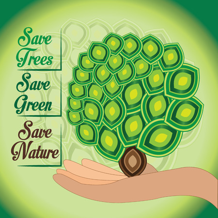 Save our nature.Green world and green ecology should remain.Deforestation can mislead the world.