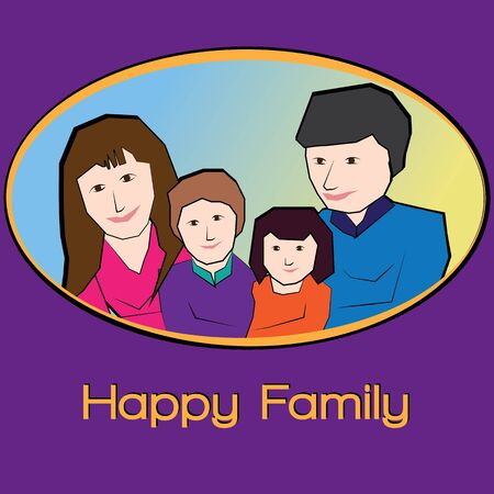 happy family: Small Family is a happy family.A portrait of a happy family
