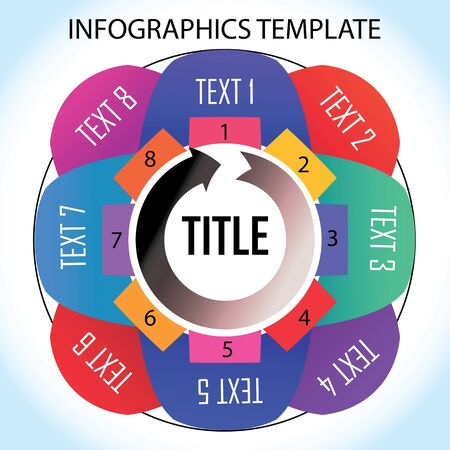 Infographics template with eight things to remember in the cycle Illustration