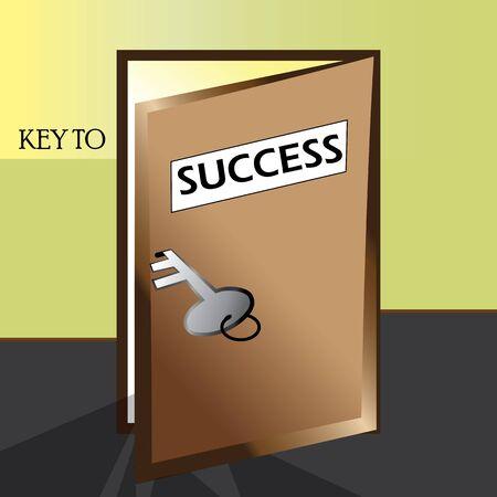 成功説明するキー-ドアが成功へのステップを達成するためにだれでものために開いています。