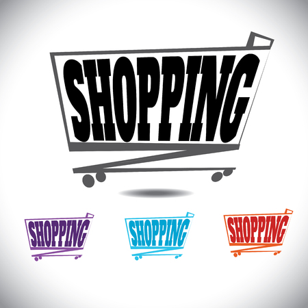 shopping, shoppers, buyers, sold goods, carrying, purchases, purchasing, retailer, discounts, cart, handle, selling, purchasers, select, new products, household, add, object, pictogram, market, label, image, internet, isolated, purchase, retail, symbol, t Ilustração