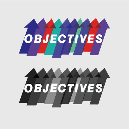 Creative colorful objectives theme vector Illustration
