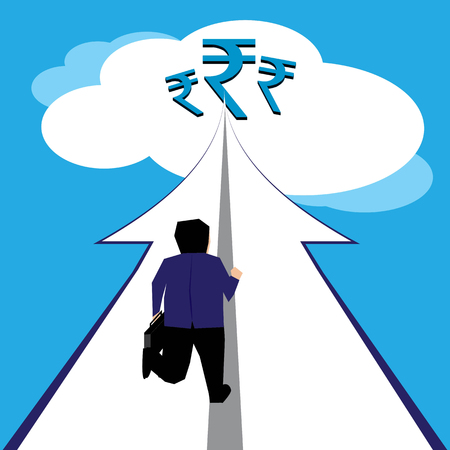 gaining: Businessman gaining huge wealth on his journey of life