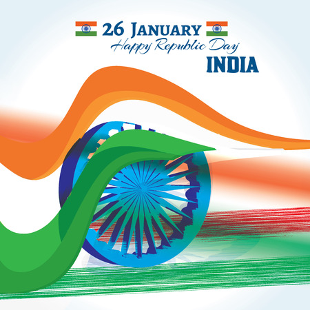 tr: constituent; independent; greeting; pride; advertisement; 3d; january; nation; national; indian; india; republic; independence; freedom; holiday; day; country; saffron; patriotic; 26; flag; ashoka; peace; wheel; patriotism; justice; government; banner; tr Illustration