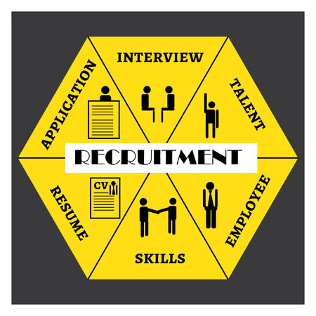 Infographic-Requirements for an employee for a recruitment in a firm Illustration