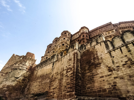 Majestic front view of the Mehrangarh fort,Jodhpur,Rajasthan,India.