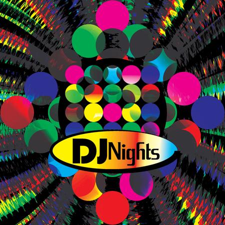 Dj party banner abstracto para discoteca y noches musicales