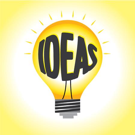 original single: Abstract ideas illumination graphic vector bright in light bulb.