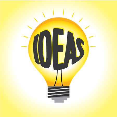 Abstract ideas illumination graphic vector bright in light bulb.