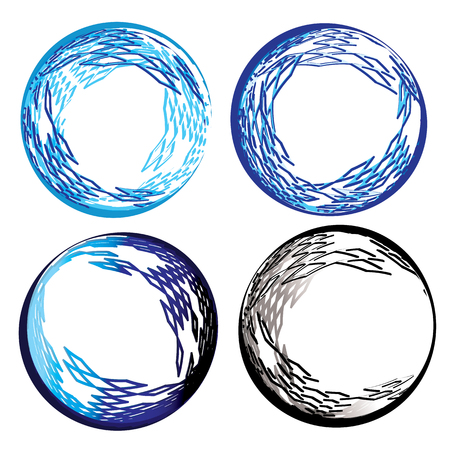 Set- four abstract spherical vectors for networking and internet