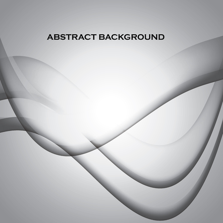 Stylish waves monochromatic abstract smooth banner and background