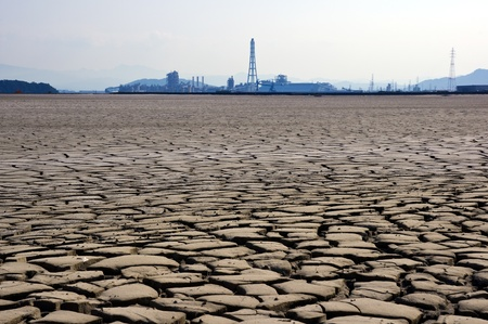 The dry earth and factory