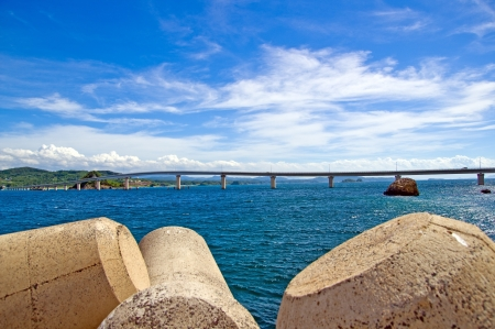Sea and bridge of summer Stock Photo - 16758574