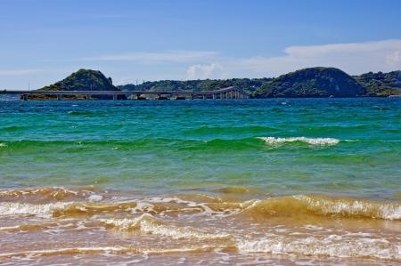 Sand and bridge of summer
