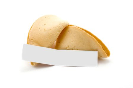 wisemen: Open fortune cookie with blank message