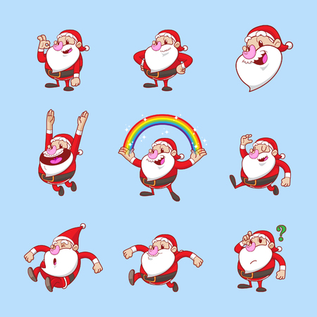 Santa claus vector set collection