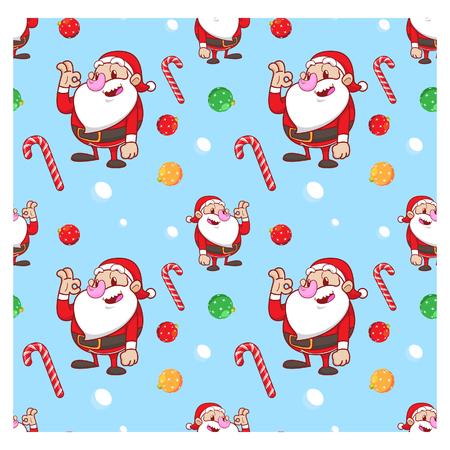 01: santa claus seamless pattern 01 Illustration