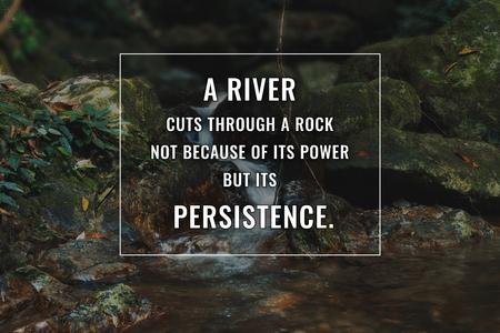 Citation inspirante et motivante. Succès et persévérance.