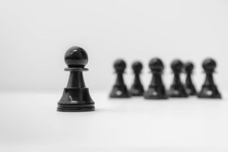 Chess Pawn Standing Out From The Crowd. Chess Concepts. Leadership.