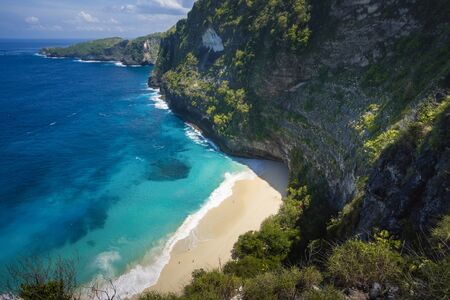 Majestic Cliff and Beach at Nusa Penida Island, Bali, Indonesia