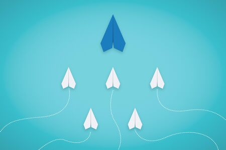 Follow The Leader. Leadership Concept With Paper Plane. Business Metaphor. Stock fotó