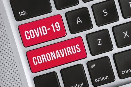 Novel Coronavirus Outbreak Concept. Covid-19 Coronavirus Word on Computer Keyboard.