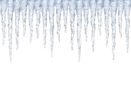 Icicles isolated Stock Photo