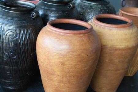 traditonal: traditonal jars Stock Photo