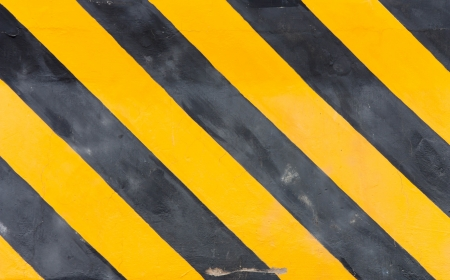 Yellow and black striped line photo