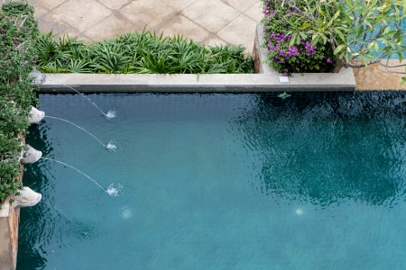 Decorated pool Фото со стока