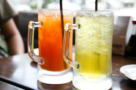 Iced punch in clear picther photo