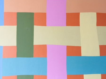 Colorful striped wall photo
