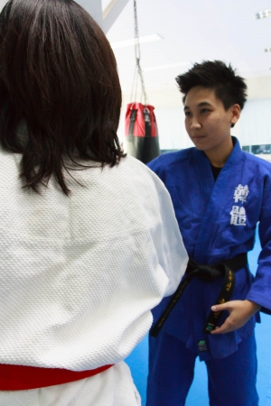 Judo training photo