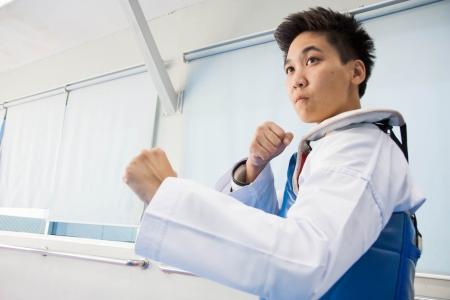 Taekwondo training Stock Photo