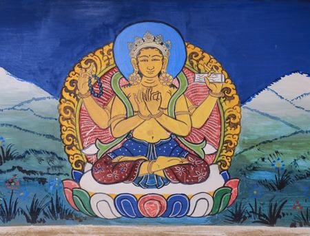 future buddha: Buddha painting