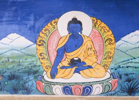 Buddha traditional painting Stock Photo