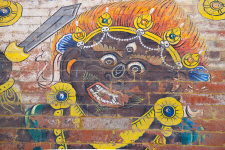 Kali traditional painting on brick